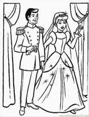 Coloring Pages Cinderellas Wedding Party (Cartoons > Cinderella