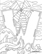 Letter Coloring Pages Doodle Art Alley | Printables