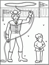 Rodeo-coloring-pages-7 | Free Coloring Page Site