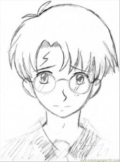 Harry Potter Looking Cute - 69ColoringPages.com