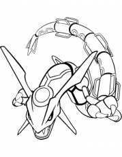 pokemon rayquaza coloring pages