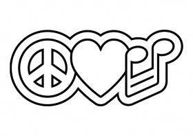 printable peace sign coloring pages