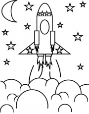 Rocket Ship coloring page | Liam's Space Birthday