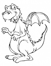 Cartoon Dinosaur Coloring Pages Kids | 99coloring.com