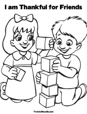 free coloring pages friendship