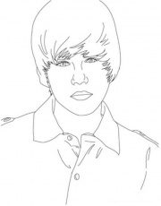 Justin Bieber Coloring Pages To Print Free Printable Coloring