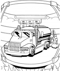 Hot Wheels Coloring Pages : Car Hot Wheels Repair And Feul Filler
