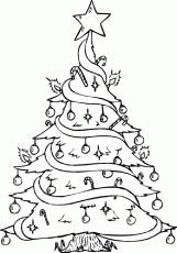 Free Christmas Tree Coloring Pages 243 | Free Printable Coloring Pages