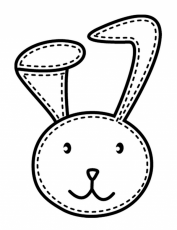 Stitched Bunny Coloring Page Coloring 242324 Bunny Face Coloring Page