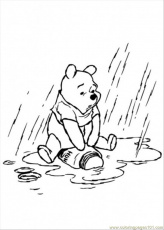 Coloring Pages Pooh In The Rainy Day (Cartoons > Winnie The Pooh
