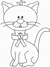 Awesome Breast Cancer Coloring Pages Online Cancer Ribbon
