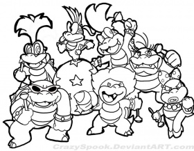 Super Mario Bros Coloring Pages To Print - Free Printable Coloring