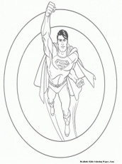 Superman Coloring Pages Free Kids Viewing Gallery For Superman