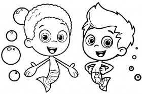 free bubble guppies coloring pages