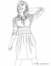 of selena gomez coloring pages for kids and for adults