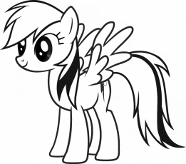 Free My Little Pony Rainbow Dash Coloring Page 2041 Coloring Pages