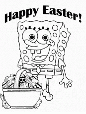 free printable sponge bob easter coloring pages