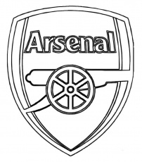 Print Arsenal Logo Soccer Coloring Pages or Download Arsenal Logo