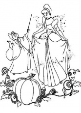 cinderella wedding Colouring Pages