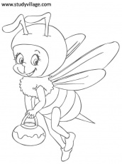 Funny Insects printable coloring page for kids 10: Funny Insects