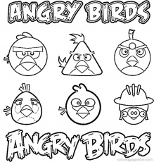 angry bird coloring pictures