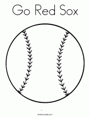 Red Sox Coloring Pages | Coloring Pages