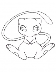 mew pokemon coloring pages