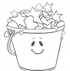 Grade ONEderful: coloring page | Bucket Filling
