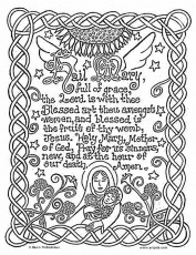 Hail Mary Catholic Coloring Page | Mary Crafts and Activities | Pinte…