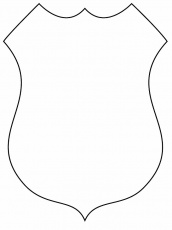 police badges coloring pages