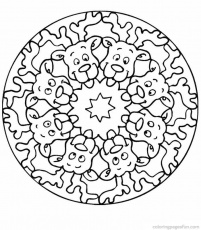 christmas mandala coloring pages