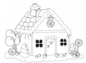gingerbread house pictures to color