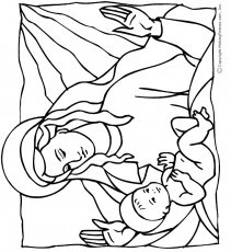 coloring pages of baby jesus