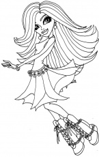 monster high spechra Colouring Pages