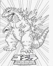 printable Godzilla coloring pages for kids | Great Coloring Pages