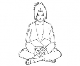 related coloring pages sasuke uchiha