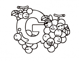 Printable Letter G (Kiddy) coloring page from FreshColoring.
