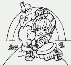 Rainbow Brite Being Be Shaken With Friends Coloring Pages - Kids