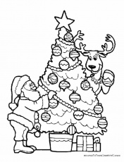 christmas coloring sheets for preschool | Free Reference Images