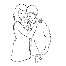 Coloring Pages Of Selena Gomez And Justin Bieber Printable 259229