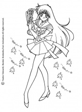 SAILOR MOON coloring pages - Sailor Moon going to school