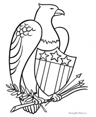 patriotic eagle coloring pages | Army