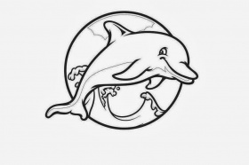 dolphin coloring pages printable : Printable Coloring Sheet ~ Anbu