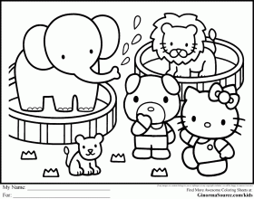 Hello Kitty Hello Kitty Coloring Pages Hello Kitty Birthday 258807