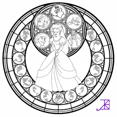 Alice Stained Glass -line art- by Akili-Amethyst on deviantART