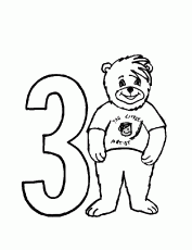 bear 3 Colouring Pages (page 2)