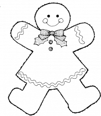 Style Gingerbread Boy Coloring Pages - Gingerbread Coloring Pages