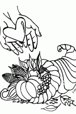 Christian Thanksgiving Coloring Pages | download free printable