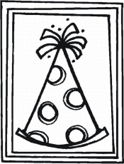 birthday cards coloring pages