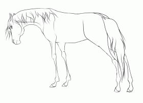 Free Horse Lineart Re-made by WolfWhisperer4Life